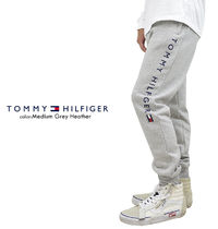 Tommy Hilfiger Tapered Pants Unisex Sweat Street Style Cotton Oversized