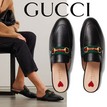 GUCCI Princetown Women's Princetown leather slipper