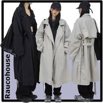 Raucohouse Casual Style Unisex Street Style Trench Coats
