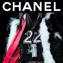 CHANEL ICON Casual Style Cashmere Street Style Plain Handmade High-Neck