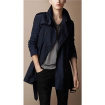 Burberry Other Plaid Patterns Street Style Plain Long Trench Coats