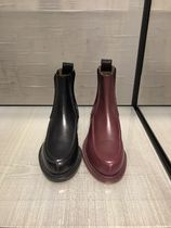 CHANEL Casual Style Plain Leather Chelsea Boots Office Style