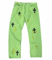 CHROME HEARTS Blended Fabrics Street Style Collaboration Jeans
