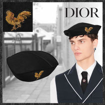 Christian Dior Deconstructed beret with embroidered patch