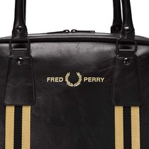 FRED PERRY Street Style Boston Bags
