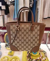 GUCCI Gucci Signature Leather Casual Style Canvas 2WAY Leather Office Style Elegant Style