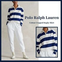 Ralph Lauren Stripes Casual Style Street Style Long Sleeves Cotton Logo