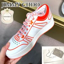 Jimmy Choo Lace-up Casual Style Logo Low-Top Sneakers