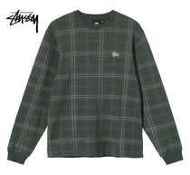 STUSSY Other Plaid Patterns Street Style Long Sleeves Logo