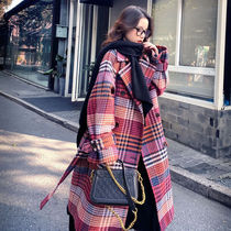 Other Plaid Patterns Casual Style Street Style Long