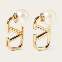 VALENTINO VLOGO Vlogo Signature Metal And Resin Earrings