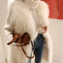 Casual Style Faux Fur Plain Party Style Midi Office Style
