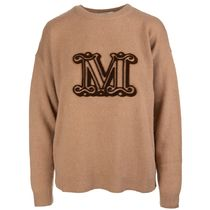 MaxMara Crew Neck Casual Style Wool Cashmere Street Style