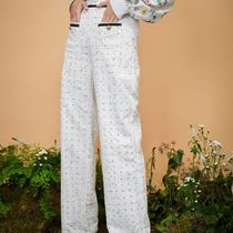 Sister Jane Printed Pants Cotton Long Office Style Elegant Style