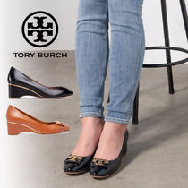 Tory Burch GIGI Casual Style Plain Leather Block Heels Party Style