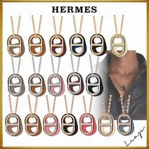 HERMES Unisex Leather Necklaces & Chokers