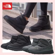 THE NORTH FACE Platform Casual Style Street Style Logo Boots Boots