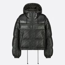 Christian Dior DIOR OBLIQUE Hooded long down jacket