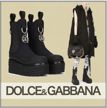 Dolce & Gabbana Neoprene ankle boots with dg logo