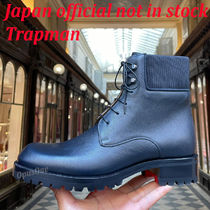 Christian Louboutin Mountain Boots Suede Street Style Leather Logo Outdoor Boots