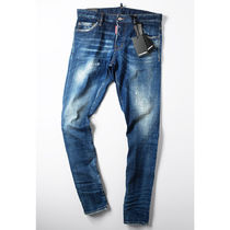 D SQUARED2 Tapered Pants Denim Street Style Logo Jeans