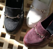 Round Toe Casual Style Suede Plain Office Style