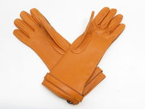 Burberry Bi-color Leather Logo Leather & Faux Leather Gloves