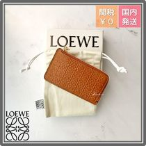 LOEWE Anagram Leather Logo Coin Cases