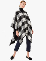 kate spade new york Gingham Wool Ponchos & Capes