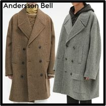 ANDERSSON BELL Unisex Street Style Logo Coats