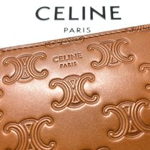 CELINE Zipped Large Zipped Wallet In Embossed Smooth Calfskin