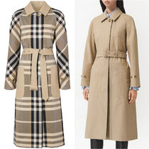 Burberry Casual Style Plain Office Style Trench Coats