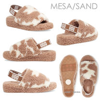 UGG Australia FLUFF YEAH Open Toe Platform Casual Style Other Animal Patterns Shoes