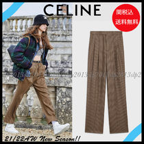 CELINE Other Plaid Patterns Zigzag Casual Style Wool