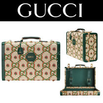 GUCCI Blended Fabrics Street Style Handmade Luggage & Travel Bags