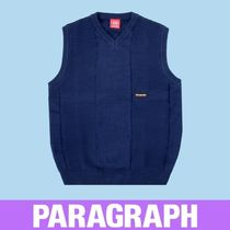 Paragraph Pullovers Unisex Street Style Oversized Logo Vests & Gillets