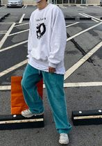 HOLY IN CODE Street Style Collaboration Plain Cotton Oversized