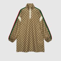 GUCCI Pullovers Stripes Monogram Street Style Long Sleeves