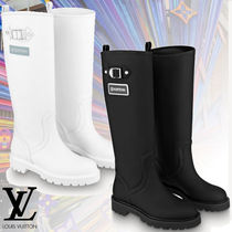 Louis Vuitton Mountain Boots Round Toe Casual Style Studded Street Style