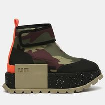 United Nude Camouflage Platform Mountain Boots Round Toe Rubber Sole
