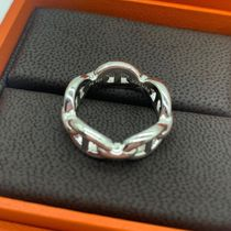 HERMES Chaine dAncre Casual Style Unisex Party Style Silver Elegant Style Rings