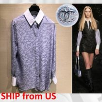 CHANEL ICON Casual Style Silk Long Sleeves Party Style Office Style