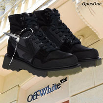 Off-White Mountain Boots Suede Street Style Leather Dad Sneakers Logo