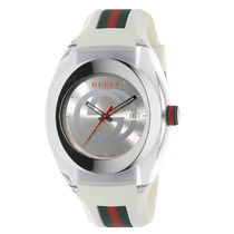 GUCCI Casual Style Unisex Round Quartz Watches Office Style