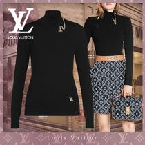 Louis Vuitton Short Casual Style Blended Fabrics Street Style Long Sleeves