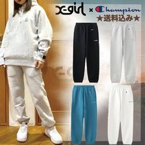 X-girl Casual Style Sweat Street Style Collaboration Logo