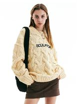 SCULPTOR Casual Style Unisex Street Style U-Neck Long Sleeves Long
