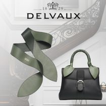 DELVAUX Casual Style Calfskin Leather Party Style Office Style