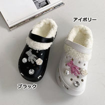 Platform Round Toe Casual Style Faux Fur Blended Fabrics