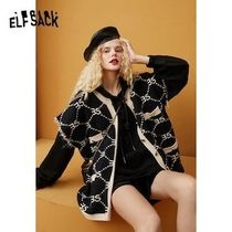 ELF SACK Casual Style Street Style Logo Front Button Vests